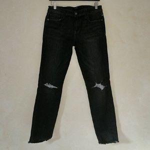 Joe's Jeans Denim - Joe's Jeans Finn Eden Skinny Ankle Distressed Gray