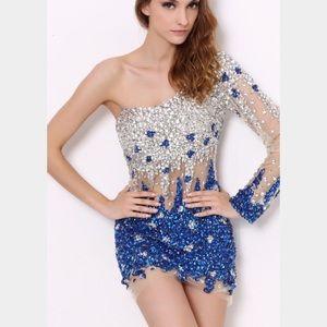 Angela & Alison Dresses & Skirts - Angela & Alison 21060 prom dress one sleeve 4