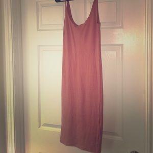 Forever 21 Midi Burnt Orange Dress Bodycon Size: S