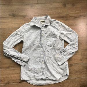 JCREW stripe bottom down shirt long sleeves Sz 0