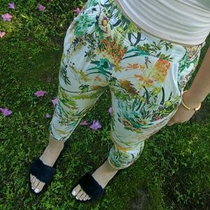 Zara Pants - Zara high rise tropical pants