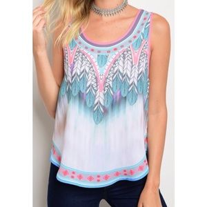 Tops - Printed Blouse  S,M