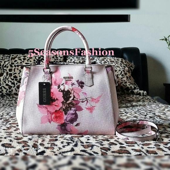 Guess Bag Beautiful pastel pink floral guess bag</p>                     </div>                     <!--bof Product URL -->                                         <!--eof Product URL -->                     <!--bof Quantity Discounts table -->                                         <!--eof Quantity Discounts table -->                 </div>                             </div>         </div>     </div>              </form>  <div style=