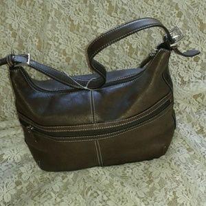 36921700e2 TIGNANELLO Bags - TIGNANELLO BROWN LEATHER DESIGNER HOBO BAG