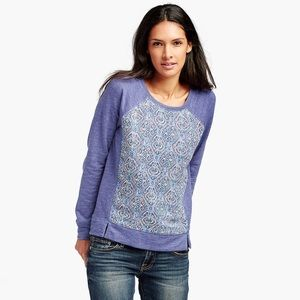 Lucky Brand Ikat Printed Pullover