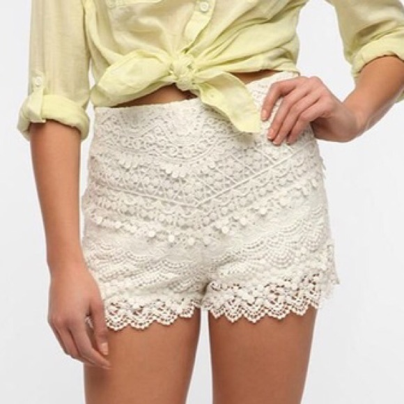 Urban Outfitters Shorts Kimchi Blue White Crochet Poshmark