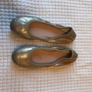 Ruby and Bloom gold metallic ballet flats