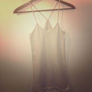 BLU CHIC LOUNGE Wear Pajama Long Ribbed White Tank