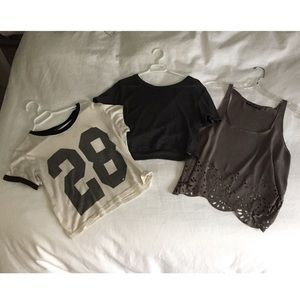 ALL THREE Shirts from Brandy Melville and Topshop