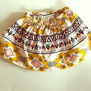 Other - Handmade Tribal Corduroy Skirt - 12-18 months