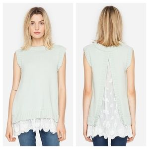 Anthropologie Tops - NWT Johnny Was Mint Sleeveless Sweater