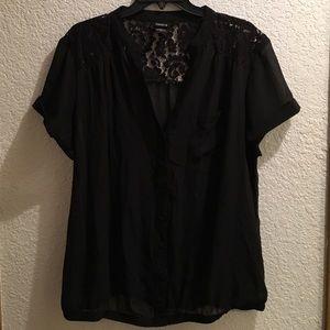 Torrid Lace Top 1x plus size black