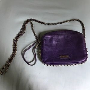 Purple studded Rebecca Minkoff crossbody