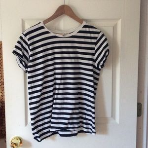 Cute black and white striped tee
