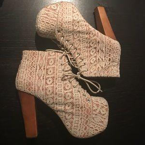 Jeffrey Campbell wooden crochet Lita