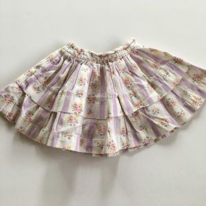 Baby Gap Floral Striped Corduroy Skirt - 6-12m