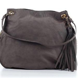 Stella & Jamie Handbags - STELLA & JAMIE Fringed Gold Stud Satchel Bag