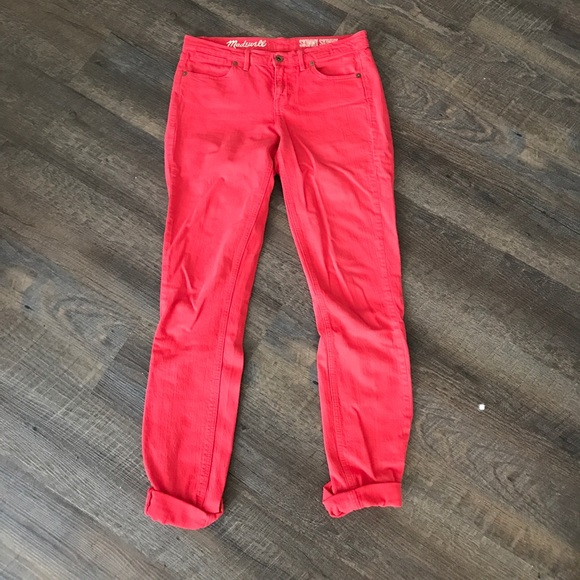 Madewell Denim - Red Madewell Skinny Jeans
