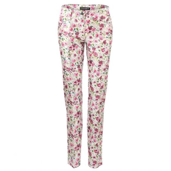 20a28bb8c6 Dolce   Gabbana Silk Floral Print Trousers