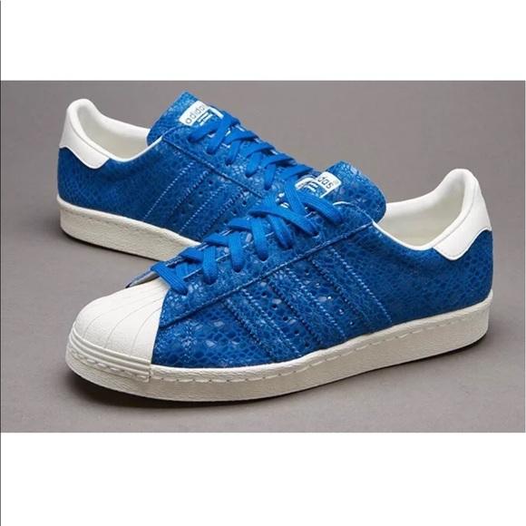 adidas blue superstar '80s sneaker