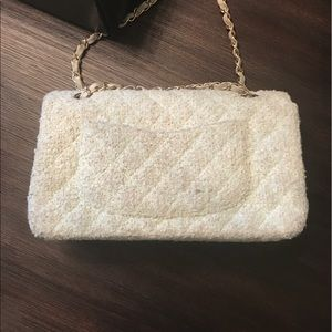 f2902157d086a4 CHANEL Bags | Tweed Bag Medium Flap Bag Mint Green | Poshmark