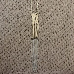 UO fringe and chain necklace