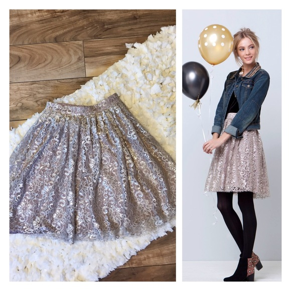 71fb7b1fa Anthropologie Dresses & Skirts - HD in Paris Anthropologie Metallic Tulle  Skirt