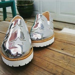 //The Amber// Silver metallic platform Sneakers