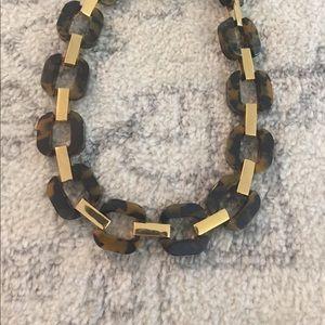 Jcrew tortoise infinity necklace