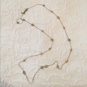 Gold dainty long necklace