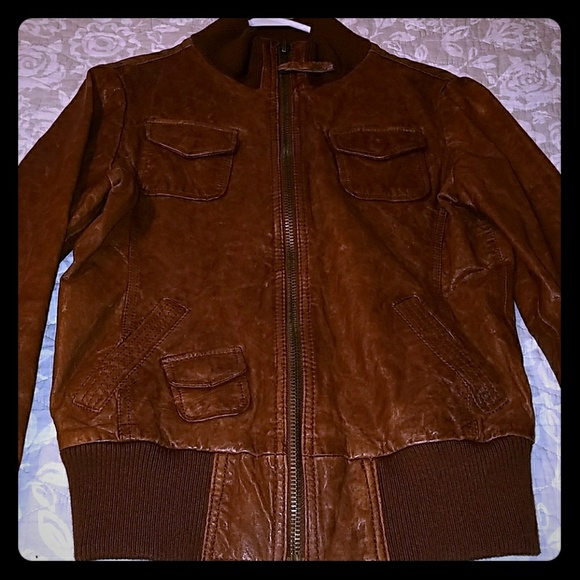 Fossil leather jacket