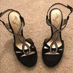 Nina Shoes - Nina Black and Sparkle Shoes