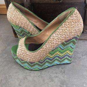 2 Lips Too Shoes - NEW! PEEP-TOE WEDGES