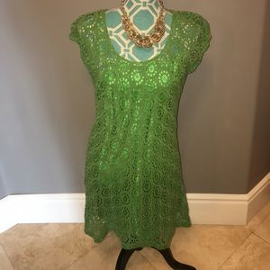 Knitted Dove Dresses & Skirts - Knitted Dove NWT Dress Crochet Green M