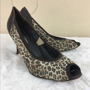 Donald J. Pliner Shoes - Donald Pliner Couture peep toe leopard print heels