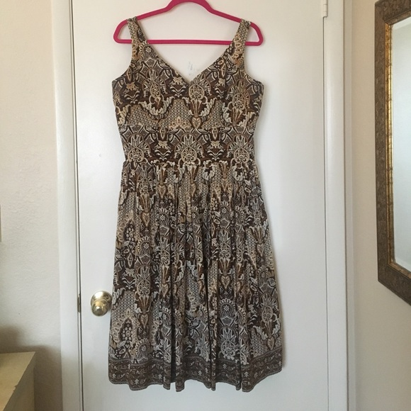 Talbots Dresses & Skirts - Silk Paisley Printed Brown Dress