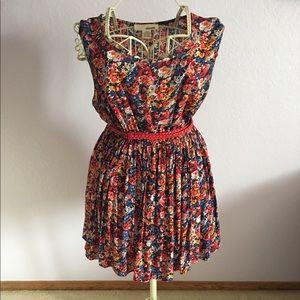 Sans Souci red floral sheath dress