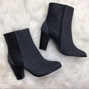 Shoe Dazzle Shoes - Shoedazzle Ember Gray Faux Leather Suede Booties