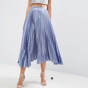 ASOS Satin Midi Skirt