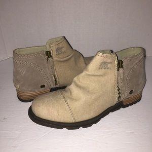 Sorel Major Low Canvas Booties Boots Shoes 7.5