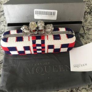 Alexander McQueen Handbags - Beaded Long McQueen Skull Knuckle Clutch