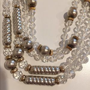 Vintage SS/14K/Crystal Long Station Necklaces