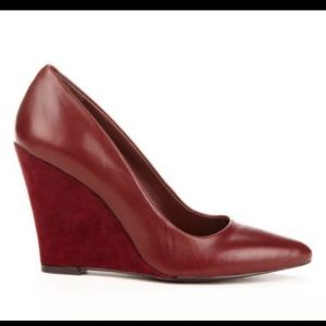 Sole Society Shoes - Sole Society Burgundy Wedge Heels