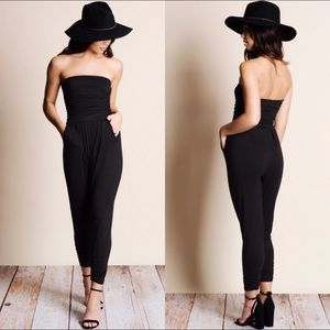 Aluna Levi Pants - 1 LEFT Black Strapless Tube Jumper