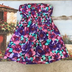 poetry clothing Dresses & Skirts - Poetry clothing purple floral tube dress