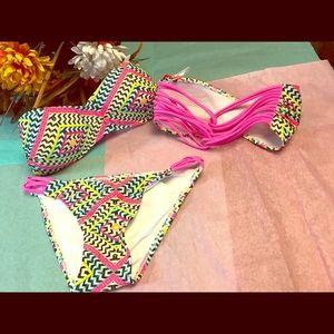 SALE NWT Retro Vintage Halter Strappy Bikini