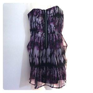 Strapless zipper dress