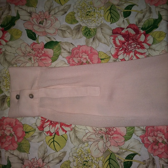 Pink Blouse With Black Bow 42