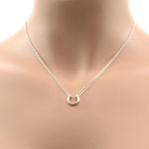 Adina reyter sterling silver horseshoe necklace