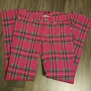 Tripp nyc Denim - Pink plaid pants